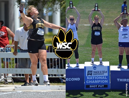NATIONAL CHAMPION - Dendinger dominates shot put with new school record mark at NCAA Division II Outdoor Track and Field Championships